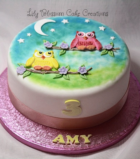 Two Owl Friends Birthday Cake Birthday Cakes Liverpool Lily