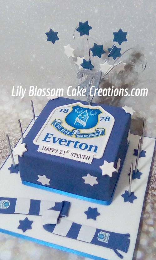 An Everton Themed Celebration Cake
