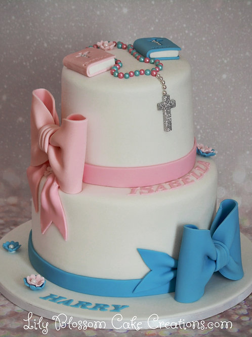 Christening Cake / Lily Blossom Cake Creations / Liverpool