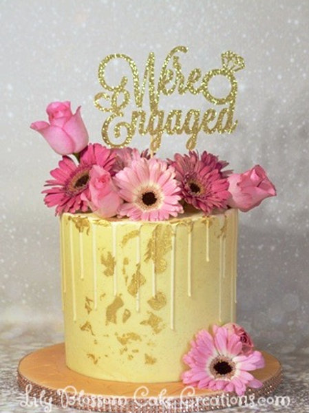 Engagement Cake / Lily Blossom Cake Creations / Liverpool
