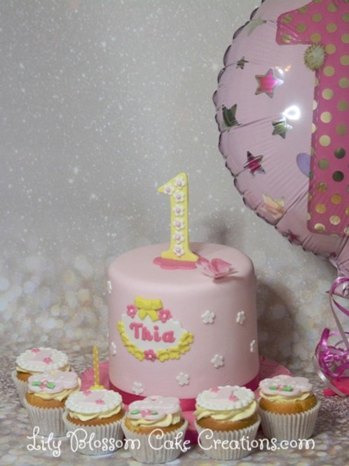 1st Birthday Cake & Cupcakes / Lily Blossom Cake Creations / Liverpool