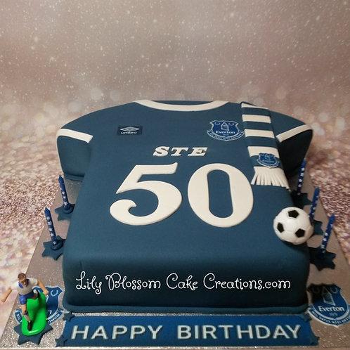 Everton Football Shirt Birthday Cake / Lily Blossom Cake Creations / Liverpool