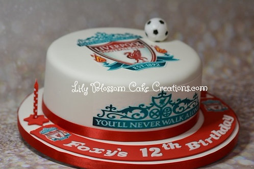 Liverpool Football Birthday Cake / Lily Blossom Cake Creations / Liverpool