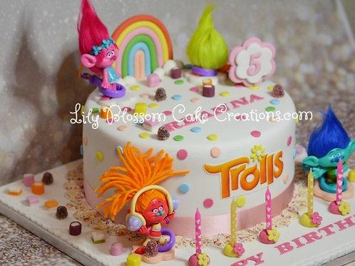 Trolls Birthday Cake / Lily Blossom Cake Creations / Liverpool Merseyside