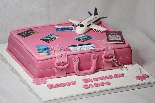 Pink Luggage Birthday Cake