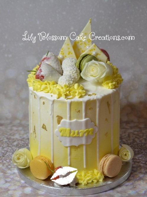 Lemon Drip Cake / Lily Blossom Cake Creations / Liverpool