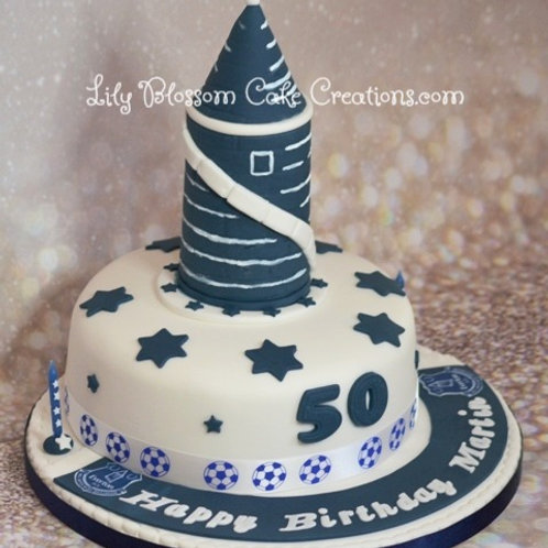 Everton Birthday Cake / Lily Blossom Cake Creations / Liverpool