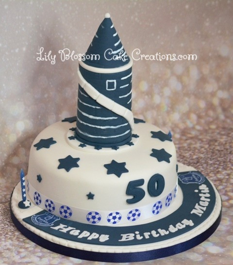 Everton Birthday Cake Lily Blossom Creations Liverpool