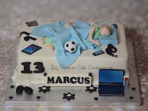 Birthday cake teenager