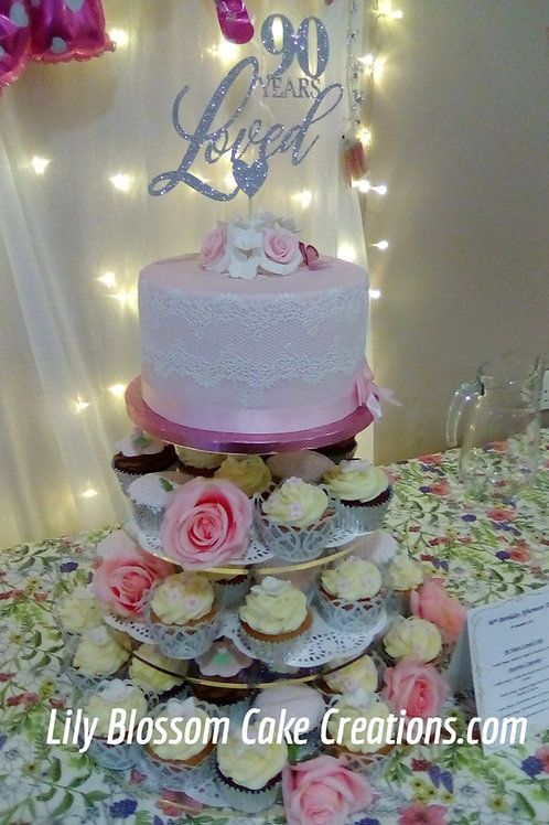 Cupcake stack / Lily Blossom Cake Creations / Liverpool