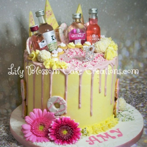 Gin Drip Cake / Lily Blossom Cake Creations / Liverpool