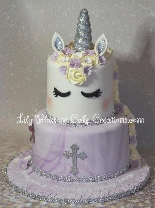 Unicorn Christening Cake