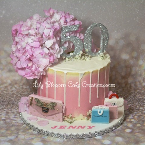 Hydrangea Cake Gucci Tiffany & Co Chanel Louis Vuitton / Lily Blossom Cake Creations / Liverpool / Merseyside