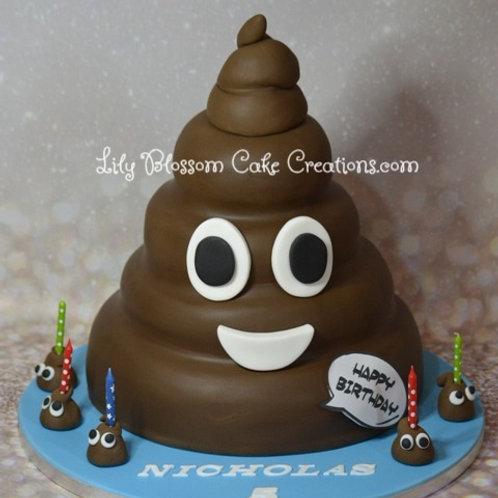 Emoji Poo Birthday Cake