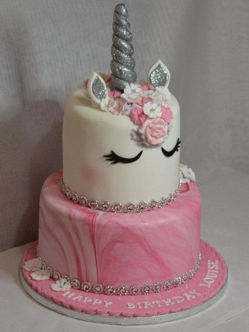 Unicorn birthday Cake lily blossom cake creations Liverpool
