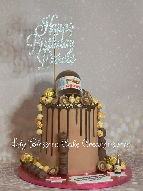 Nutella Drip Cake / Lily Blossom Cake Creations / Liverpool