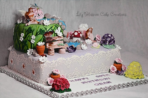 Enchanted Fairies Birthday Cake