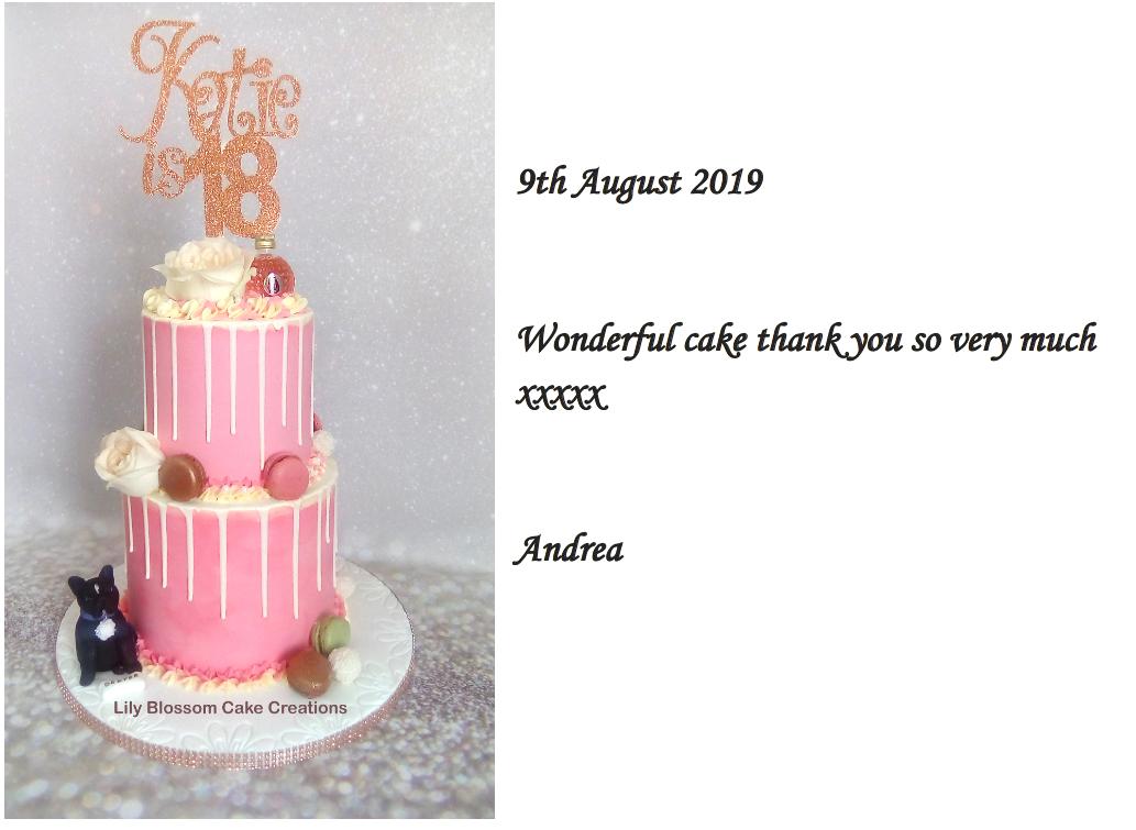 Pink Buttercream Drip Cake