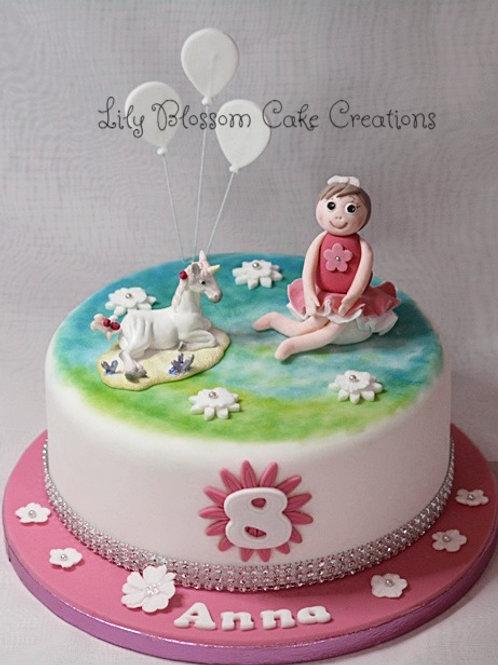 Unicorn & Lilydoll Birthday Cake