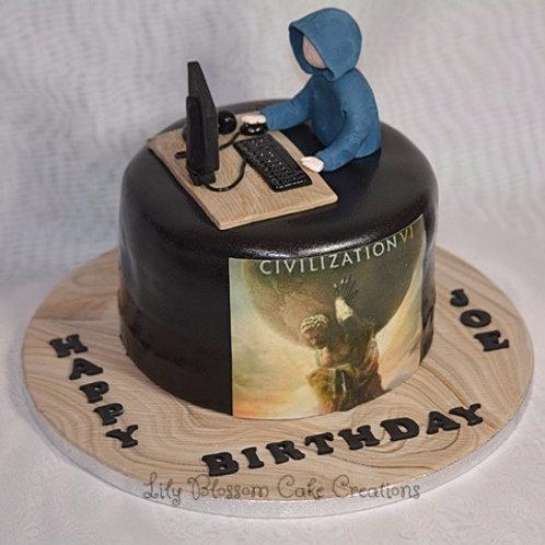 Computer Gaming Birthday Cake