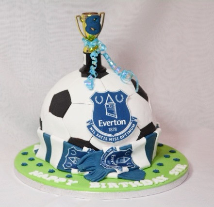 Everton Football Birthday Cake Birthday Cakes Liverpool Lily