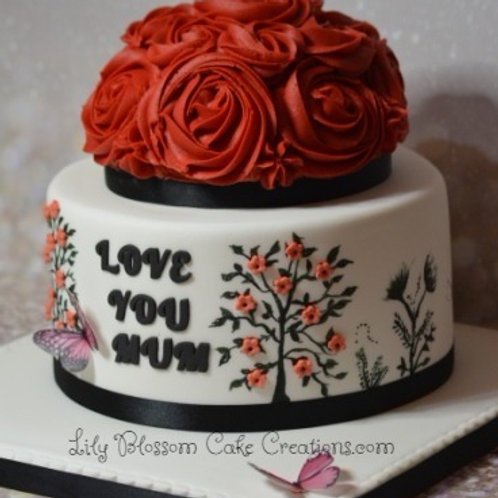 Mum Birthday Cake / Mothers Day / Flower birthday cakes / lily blossom cake creations / Liverpool