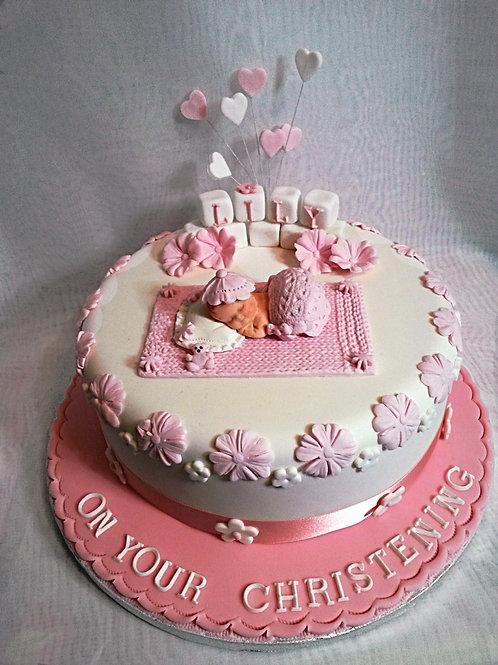 Lily Blossom Christening / Baby Shower Cake