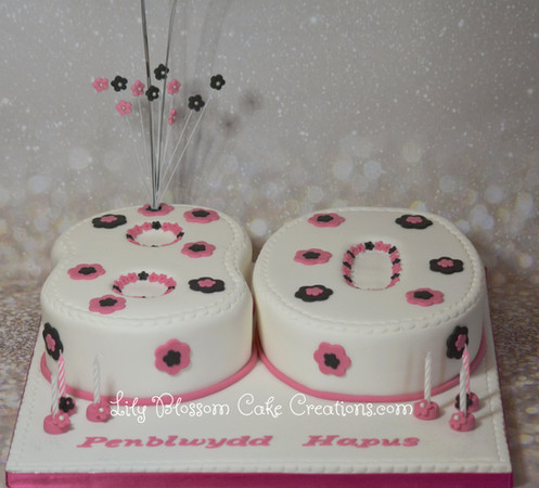 80th Birthday Cake Lily Blossom Creations Liverpool