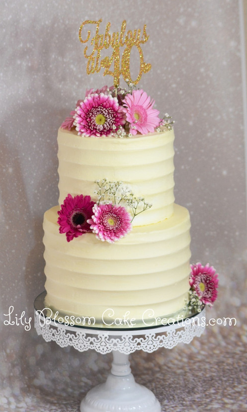 Buttercream Flower Cake Lily Blossom Creations Liverpool