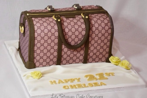 Gucci Bag Birthday Cake