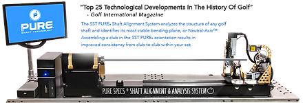 The SST PURE® Shaft Alignment System analyzes the structure of any golf shaft and identifies its most stable bending plane, or Neutral-Axis™.