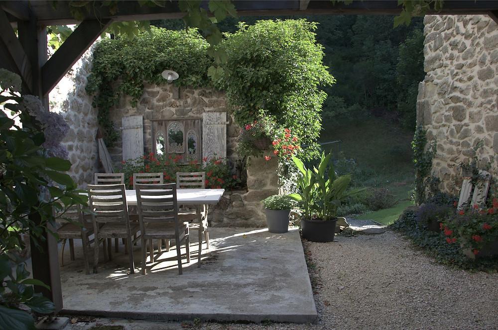 prachtige plek op het terrein van LaGrange de Fabras  maar de foto laat nog te wensen over.