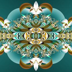 compositie in zeegroen