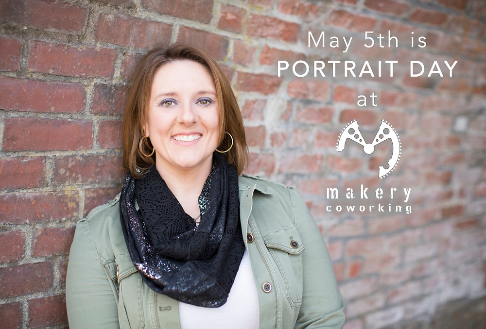 Makery Coworking member, Crystal G., poses for a recent portrait by Emily Lee.