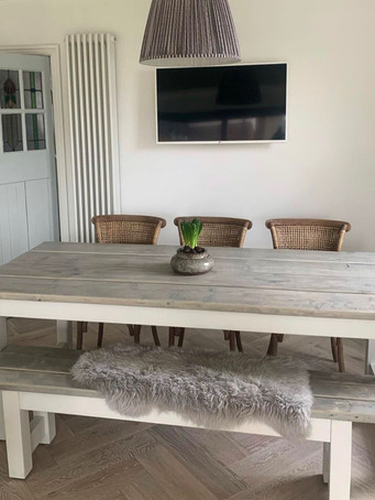 Rustic Refectory Table & 1 Bench