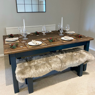 Prosecco Dining Table & 2 Benches