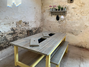 Prosecco Patio Table & 1 Bench