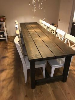 Narrow Rustic Table