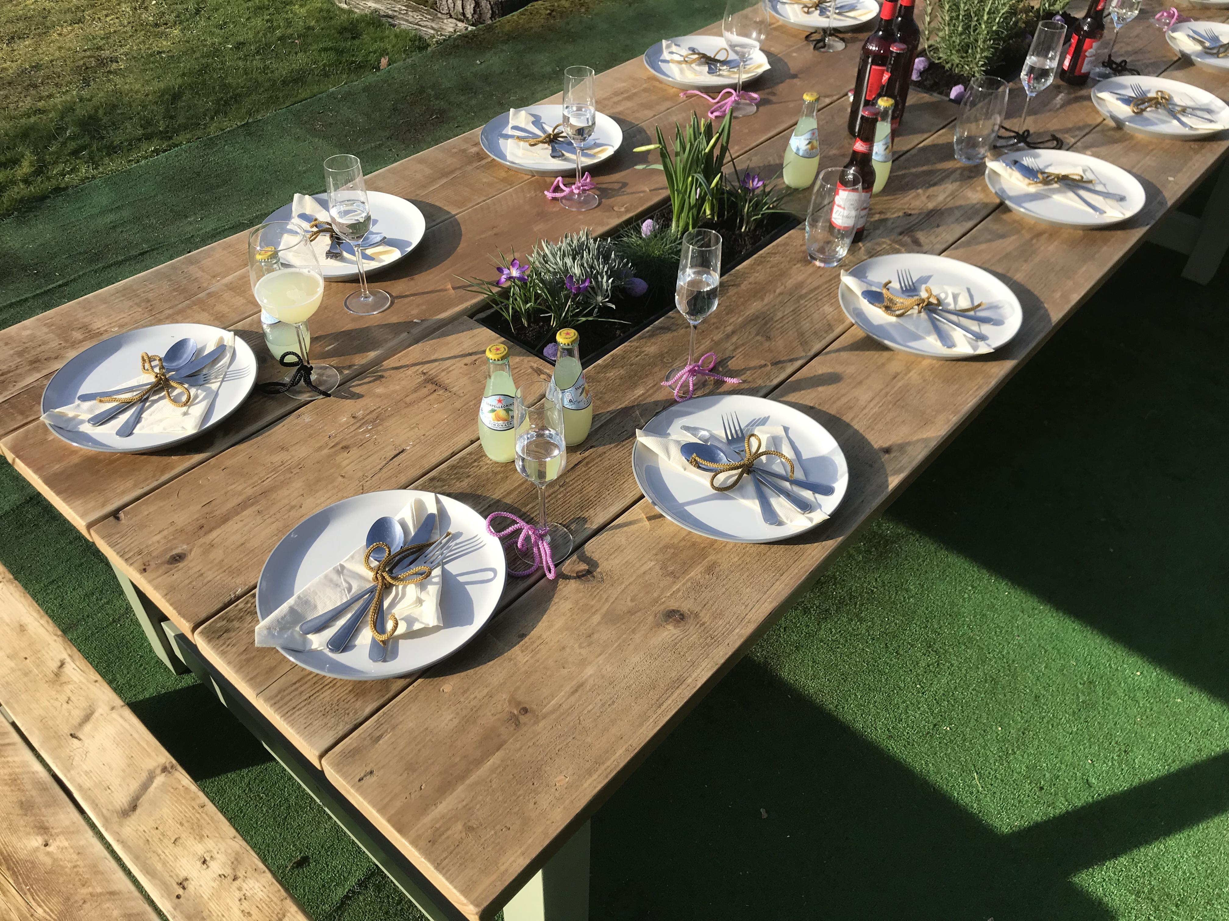 Patio Table Herb Garden