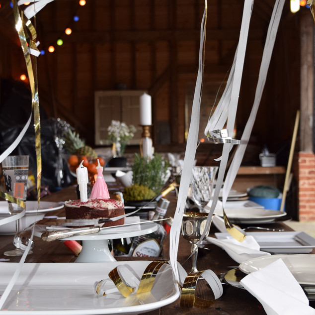 Prosecco Banqueting Table