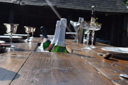 Prosecco Table with ice bucket