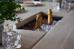 White Prosecco Dining Table