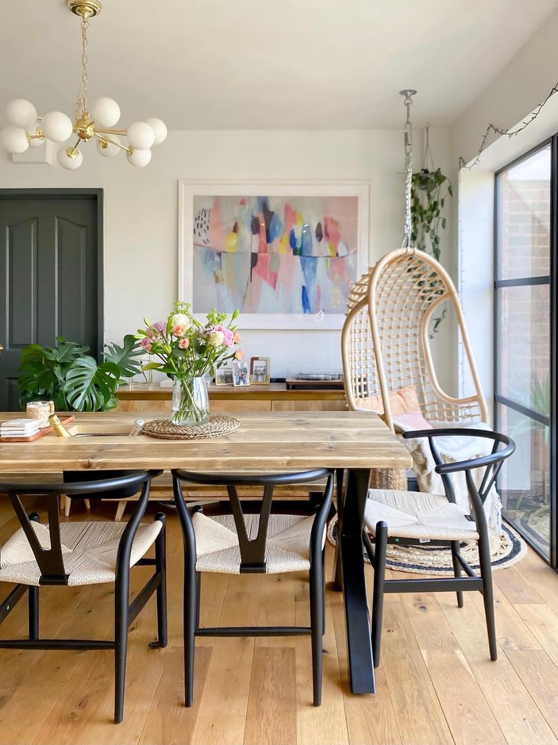 Prosecco Scaffold Board Dining Table