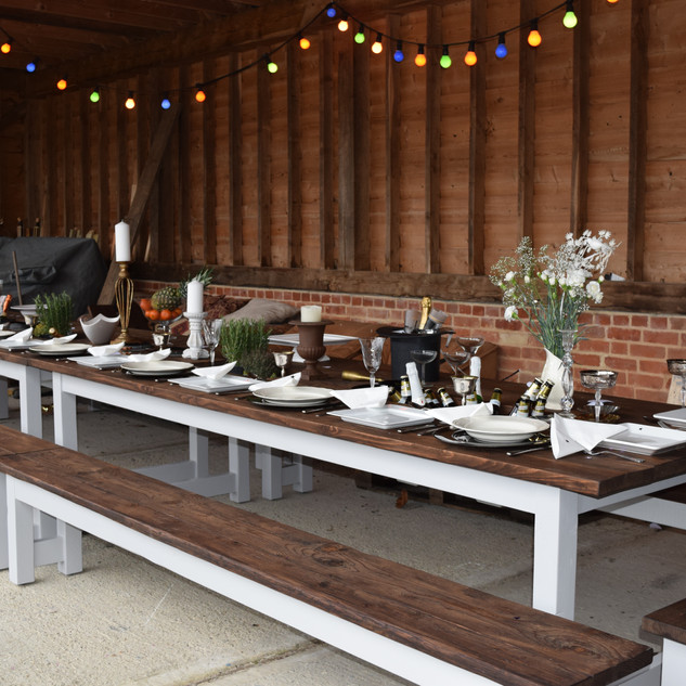 Rustic Prosecco Banqueting Table