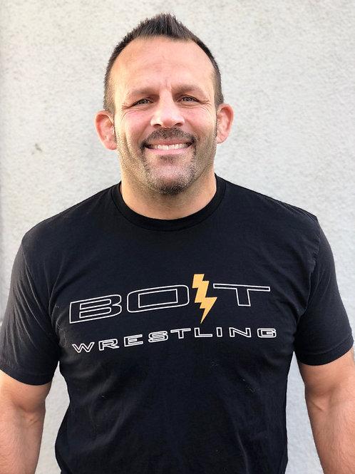 Black BOLT Wrestling Shirt