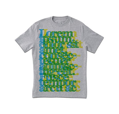 Grey Typography Print T-Shirt