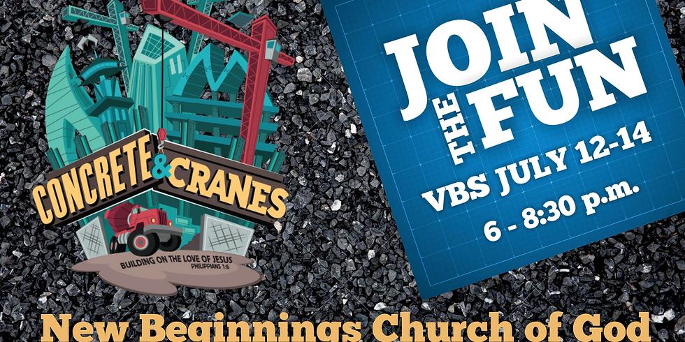 Concrete and Cranes- VBS 2021!