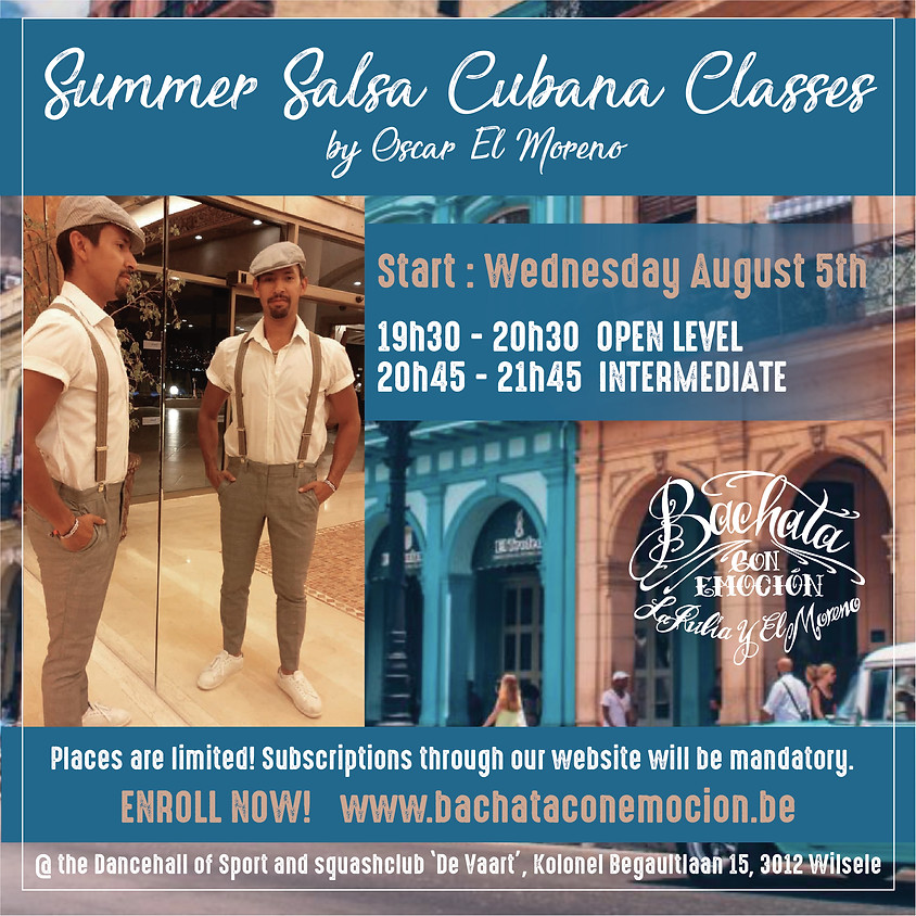 Salsa Cubana summer partnerwork classes (week 5)