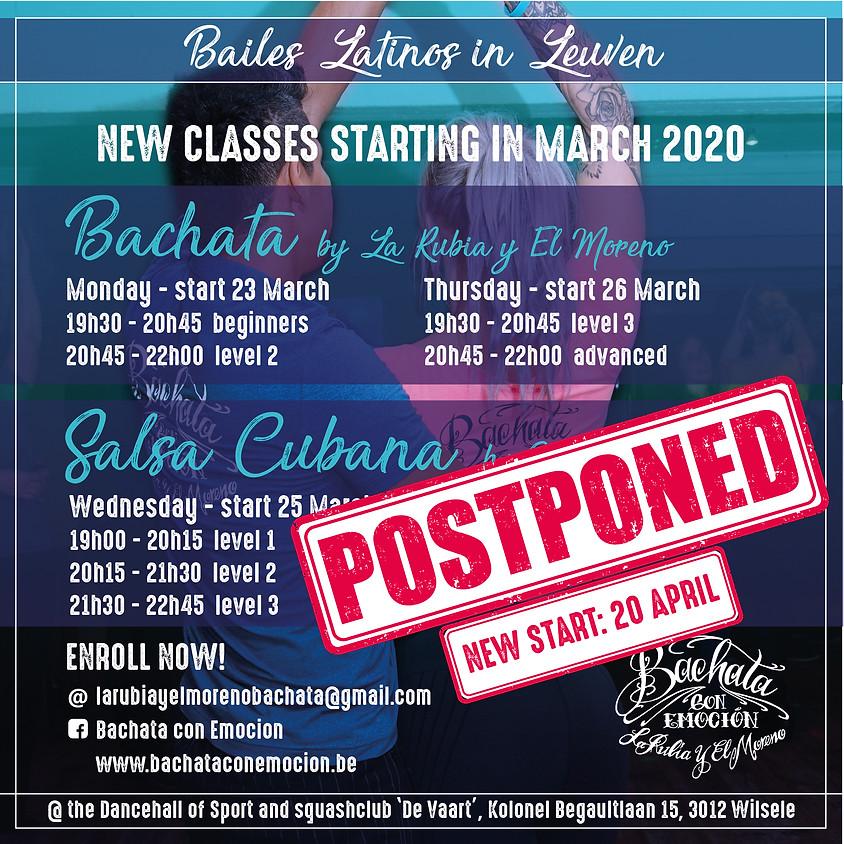 Start NEW Spring series Salsa Cubana beginners, level 2 & level 3 with Oscar & Veerle