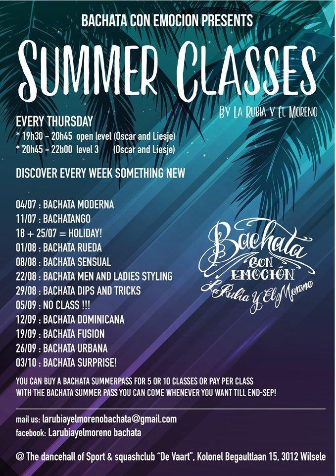 Bachata Summer Classes (open/level 3)